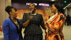 De'Saundra, Allegra and Megan on the Red Carpet of Glamzonia Presented by FashionAfricana