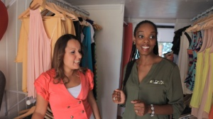 Kia and Sam, owner of Broke Little Rich Girl - Mobile Boutique