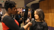 Allegra and designer Kiya Tomlin