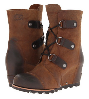We absolutely love these SOREL Joan of the Arctic wedge boots. Warmth in a wedge! What more can we ask? $240.00  Zappos