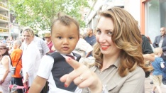 Victoria Porter, wife of jazz vocalist Gregory Porter with son
