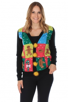 Women's Ugly Patchwork Cardigan tipsyelves.com