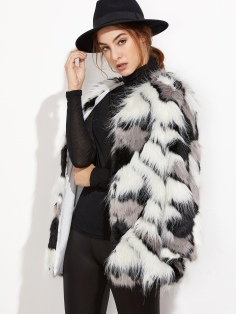 Wear it with a hat like with this Patchwork Open Front Faux Fur Coat http://bit.ly/2fF8hFo