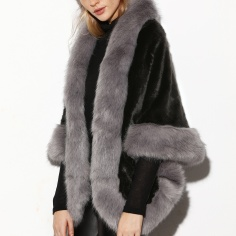 Wear it with faux leather pants like this Faux Fur Poncho Coat http://bit.ly/2fFcjgU
