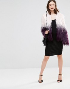 Wear it with a pencil skirt like this Barney's Originals Ombre Faux Fur Coat http://bit.ly/2gyXRvA