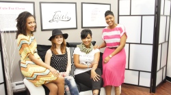 Cute for Christ owner NaTasha McNeil with models