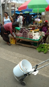 At the market in Mobay