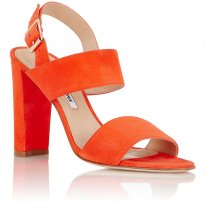 MANOLO BLAHNIK Suede Khan Double-Strap Sandals $769.00