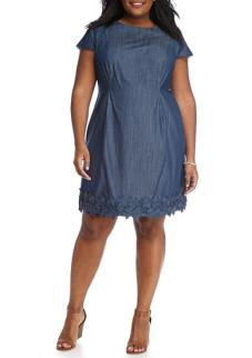 AGB Plus Size Crochet Trim Dress $66.99
