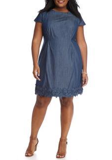 AGB Plus Size Crochet Trim Dress $66.99
