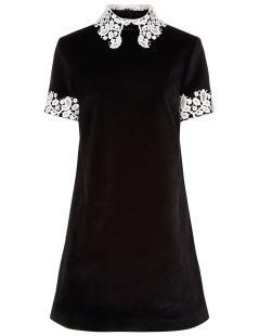 Black Velvet Opium Collared Dress ALTERNATE VIEWS £ 470