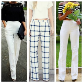 THE WHITE PANT - Tapered leg, flared or fit, nothing says chic like a well tailored pant!