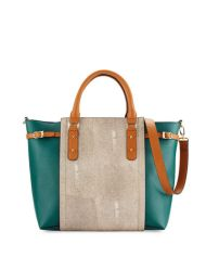 Valeria Colorblock Stingray Tote Bag $140.00