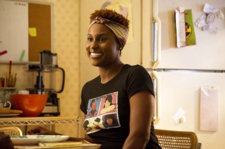 Tee shirt game! Episode 6: Issa Rae. photo: Anne Marie Fox/HBO