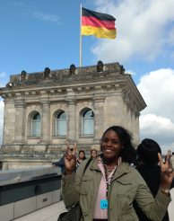 At the German Parliament