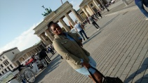 At Brandenburg Gate in Berlin