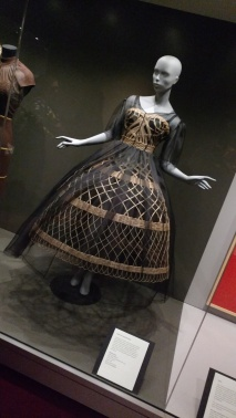 Wicker dress by Dolce & Gabbana on display at the Frick Pittsburgh. (Photo: CitySTYLE412)