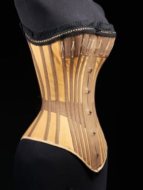 Cotton and whalebone corset, c. 1890, -¬ Victoria and Albert Museum, London
